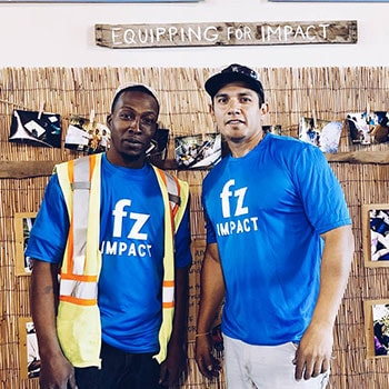 Volunteering through FZ's corporate community impact program
