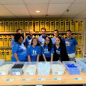 Volunteering at 20 Liters through FZ's corporate community impact program