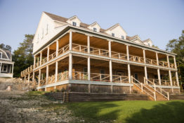 Silver Birches Lodge, historic restoration electrical