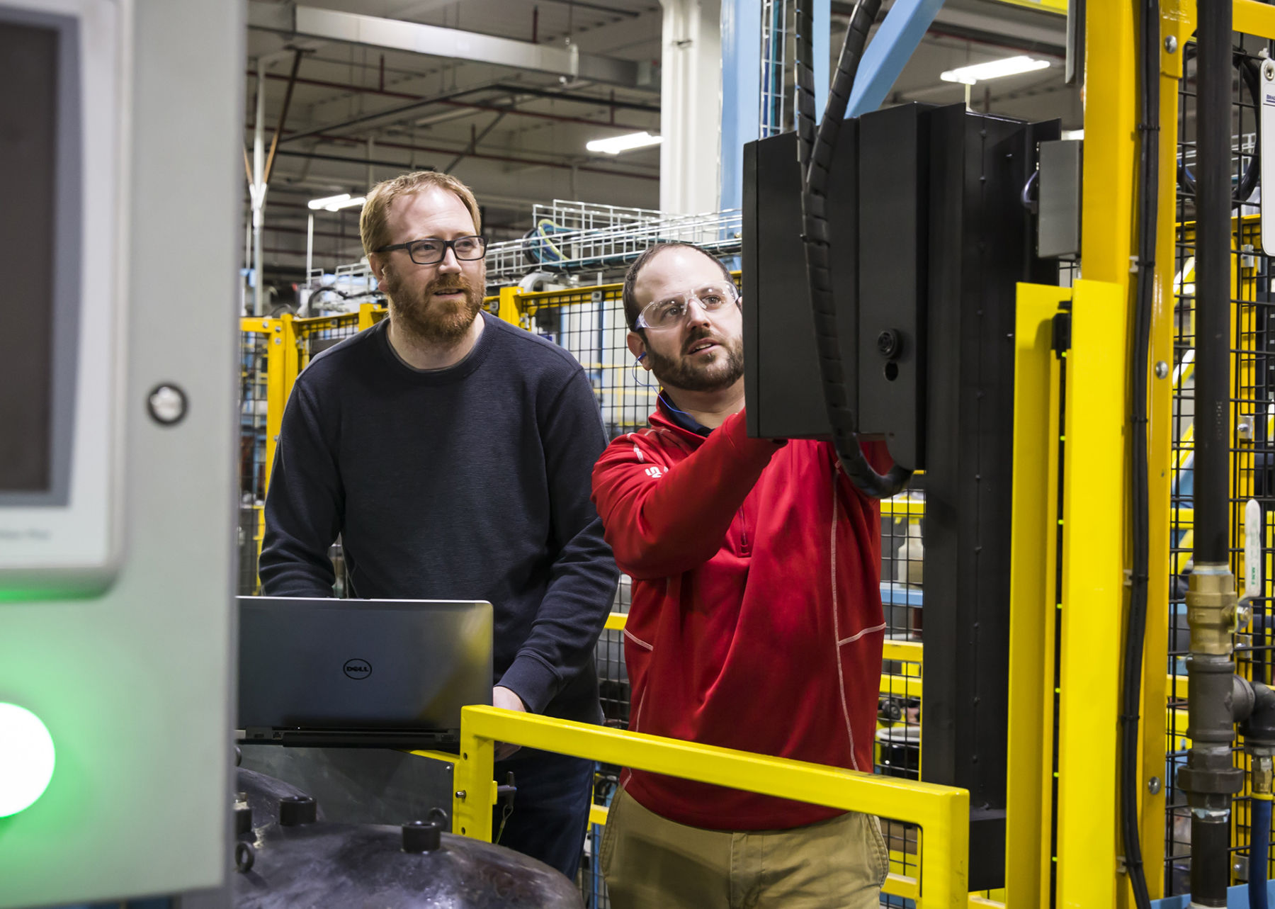 industrial engineers working at a facility
