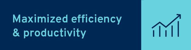 Maximized efficiency and productivity