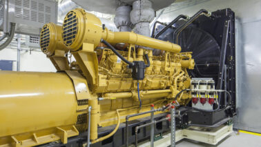 large generator in a facility