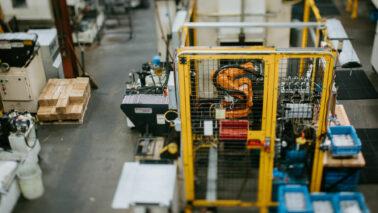 robot on plant floor