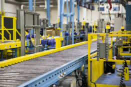 conveyor belt in manufacturing facility