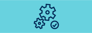 gears and check mark icon