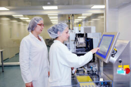 employees in a medicine production facility