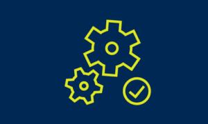 gear and check mark icon