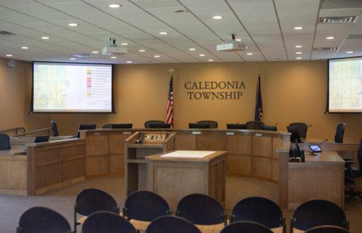 Caledonia Township board room
