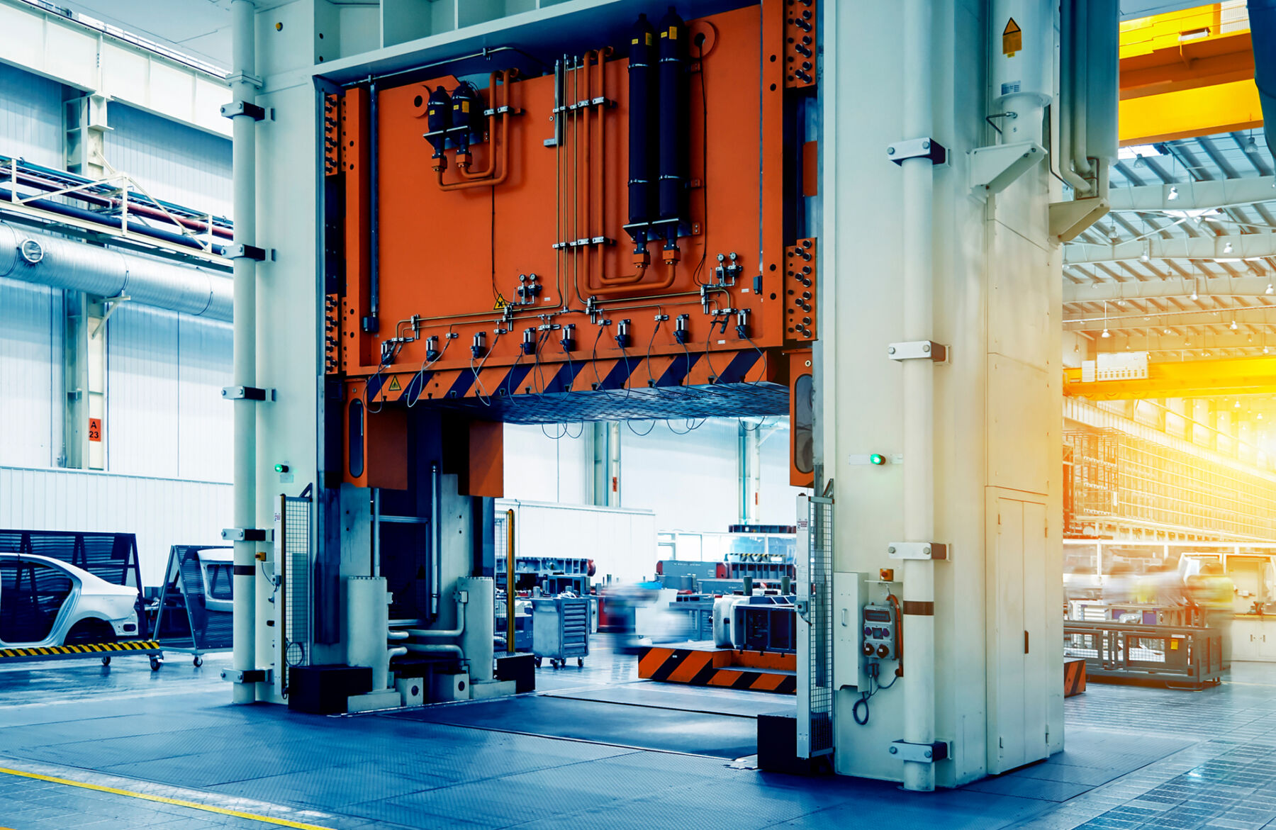 large scale automotive industrial press