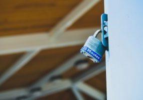 Lock on panel